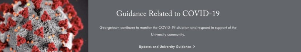 Georgetown University COVID-19 Guidance Website