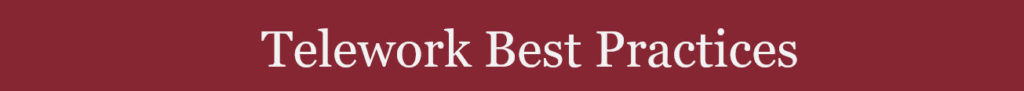 Telework Best Practices Document